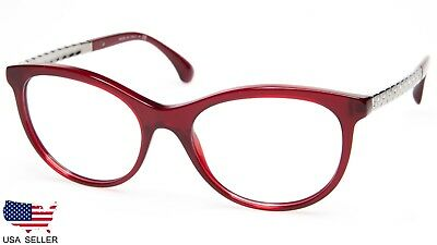 396fb52061 NEW CHANEL CH 3357 c.1528 RED TRANSPARENT EYEGLASSES FRAME 53-18-140 ...