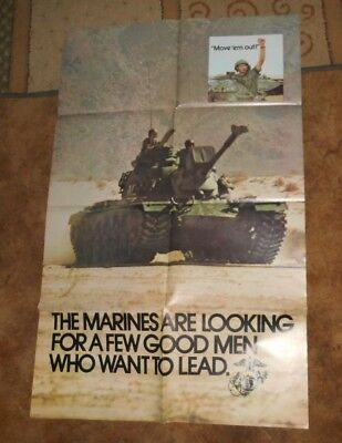 Original Marine Recruiting Poster 1973 By Gov. Printing Office