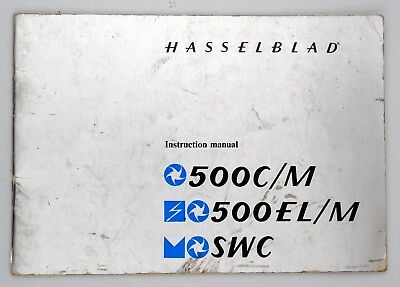 Hasselblad Instruction Manual for 500C/M - 500EL/M - SXC - Printed in Sweden