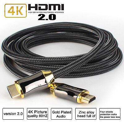 6ft~50ft HDMI CABLE LEAD V2.0 4K ULTRA HIGH SPEED FOR 4K x2K XBOX Blu-Ray 3D lot