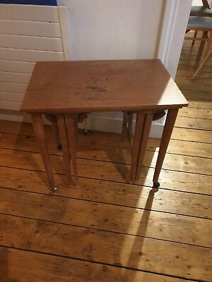 Vintage Nest of Tables - 1 rectangular, 2 round tables