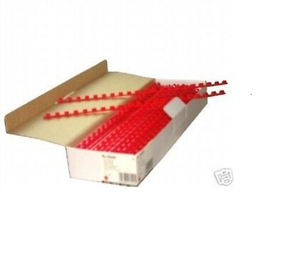 Box100Red Niceday 6mm Comb Binder Rings A4Document Binding Loops21Spines Plastic