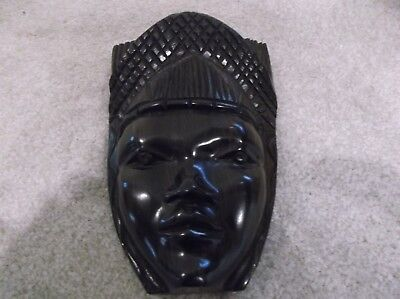 Reduced 10% Ebony carved face plaque from Africa
