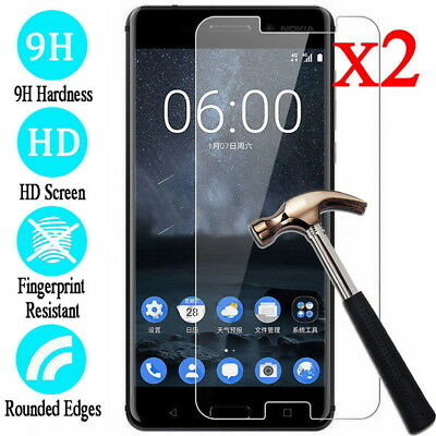 For Nokia 2 3 5 6 8 2017 3.1 2Pcs 9H Tempered Glass Screen Protector Film Cover