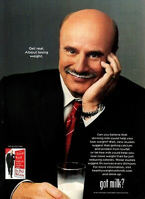 Got Milk? Ad 2004 Dr Phil * Get Real About Losing Weight * Very Rare