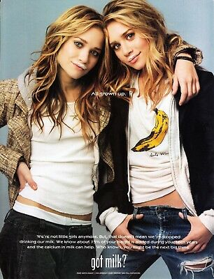 Got Milk? Ad 2004 Mary-Kate & Ashley * All Grown Up * Very Rare