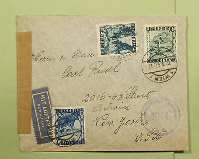 DR WHO 1947 AUSTRIA VIENNA AIRMAIL TO USA CENSORED  d68226