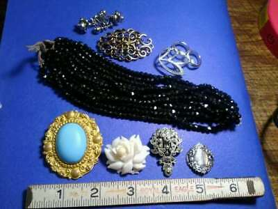 LOT OF VINTAGE AND ANTIQUE JEWELRY, MOST WEARABLE, Victorian, sterling, signed