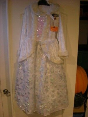 NWT Youth Child Girls DRESS UP CHRISTMAS Costume Snow Queen Princess Gown M OR L