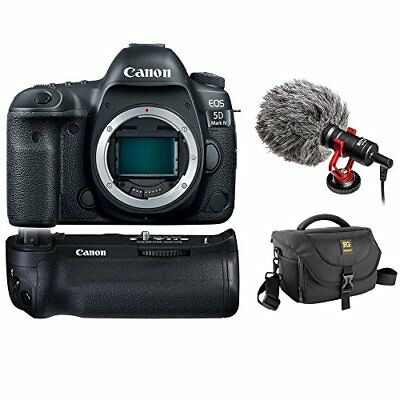 Canon EOS 5D Mark IV DSLR Camera (Body Only) w/ Battery Grip, Bag & Video Mic