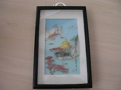 Vintage Chinese Mother of pearl and shell 3D Picture