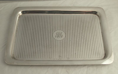 Fine Solid Silver Dressing Table Tray - 304g - Birm. 1916