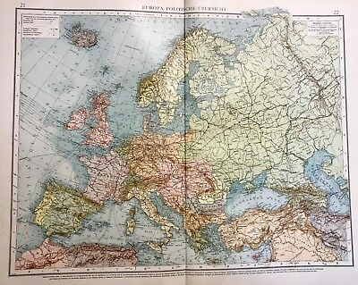 Map of Europe (Political Overview) from Andrees Allgemiener Handatlas