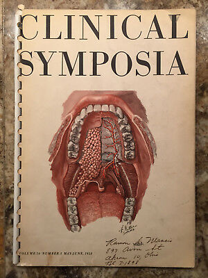 Clinical Symposia Anatomy Mouth 1958 F. Netter M.D. illustrations Ciba