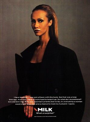Got Milk? Ad 1995 Iman * What A Surprise! * Very Rare