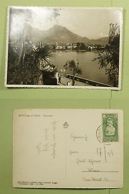DR WHO 1937 ITALY PANORAMIC POSTCARD OF RIVA RPPC  d67033