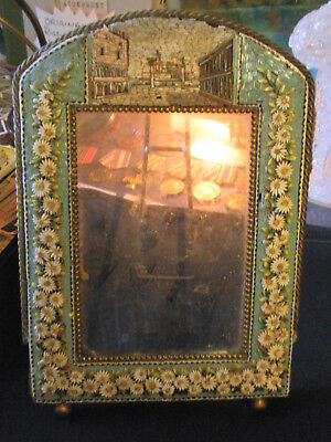 Beautiful Brass And Enamel Antique Picture Frame