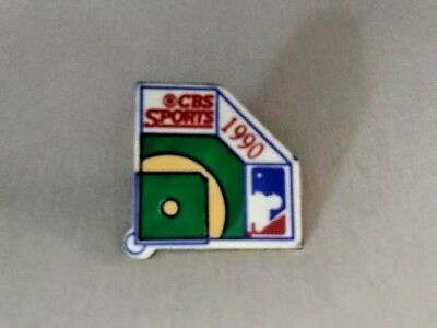 1990 MLB CBS SPORTS Media Press Pin - MINT