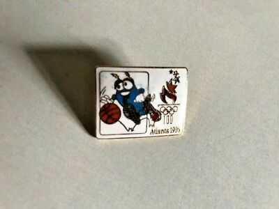 RARE! 1996 Atlanta Summer Olympics- MASCOT IZZY- Basketball  Pin MINT