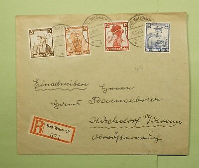 DR WHO 1935 GERMANY BAD WILSNACK REGISTERED TO AUSTRIA  d61334