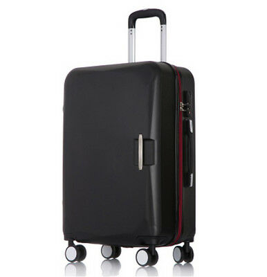 D900 Black Lock ABS Universal Wheel Travel Suitcase Luggage 24 Inches W