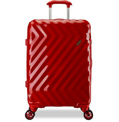 D878 Red Business Universal Wheel Coded Lock Travel Suitcase Luggage 20 Inches W
