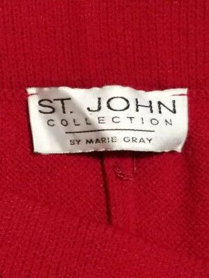 St John Collection by Marie Gray - Red 2 Piece Skirt Suit - Womans Size 12