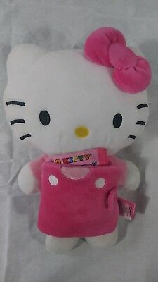 """Large Hello Kitty Plush Doll Toy 12"""" - pink Skirt"""