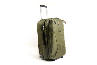 D542 Unidirectional Wheel Green Travel Business Suitcase Luggage 21 Inches W