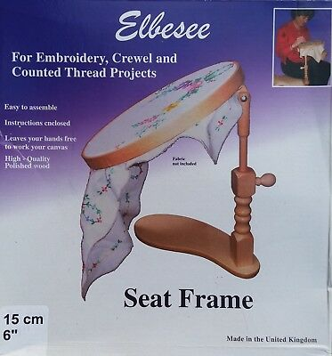 Elbesee Seat Frame For Embroidery, Crewel and Counted Thread Projects 15 cm