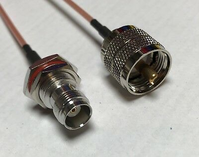 TNC Female Bulkhead to UHF Male pl259 RG316 Coaxial Cable USA Antenna Wif