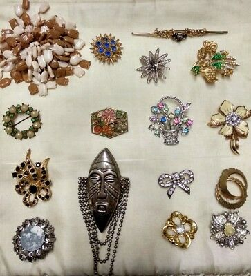 Good  COLLECTION, JOB LOT of 16  VINTAGE Brooches