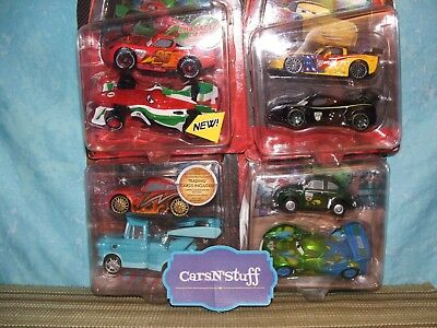 Disney Store Pixar Cars 2-Packs: Sally, Carla, Mater & More *w/ Character Cards*