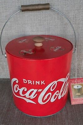 Coca-Cola Tin Galvanized Ice Bucket Cooler~ Insulated Liner ~ New With Tag Mint