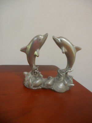 Beautiful Vintage Spoontiques Pewter Dolphins Figurine 2034
