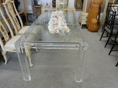 Mid Century Modern Lucite Dining Table