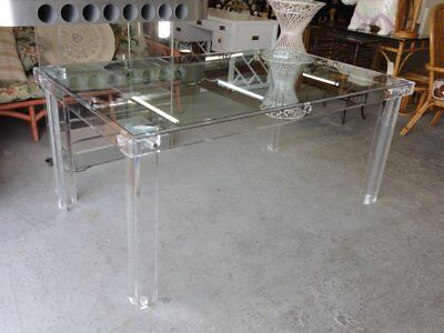 Modern Glam Lucite Dining Table