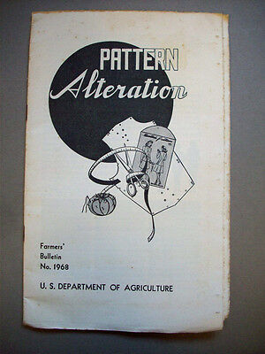 Sewing Pattern Alterations 1940's Farmers bulletin