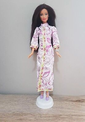 New Barbie doll clothes outfit princess wedding gown purple cheongsam and shoes