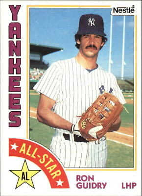 1984 (YANKEES) Nestle 792 #406 Ron Guidry AS