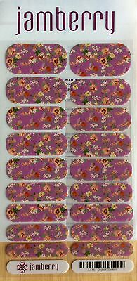 Jamberry ORCHID GARDEN Full Sheet. Retired and Hard to Find.