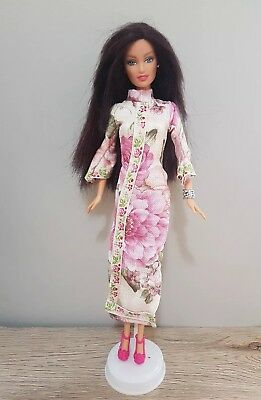 New Barbie doll clothes outfit princess wedding gown floral cheongsam and shoes