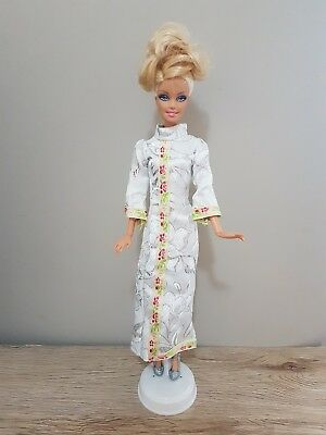New Barbie doll clothes outfit princess wedding gown white cheongsam and shoes