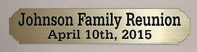 Engraved Nameplate For Display Case Photo Frame Plaque 1 X 4