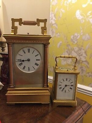 A Stunning Rare giant Victorian Repeater CARRIAGE CLOCK