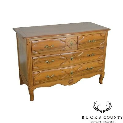 Baker French Louis XV Style Vintage Walnut Chest of Drawers Dresser
