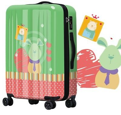 D99 Lock Universal Wheel Animal Print Travel Suitcase Cabin Luggage 24 Inches W