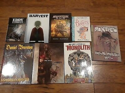 Image Hardcover Lot Of 8 Graphic Novels Comics Harvest Monolith Mixtape
