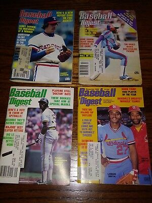 Vintage Baseball Digest 1981,1982- Lot Of 4