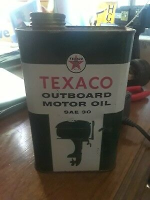 vintage Texaco oil can outboard green